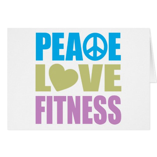 Peace Love Fitness Greeting Card