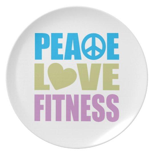 Peace Love Fitness Melamine Plate