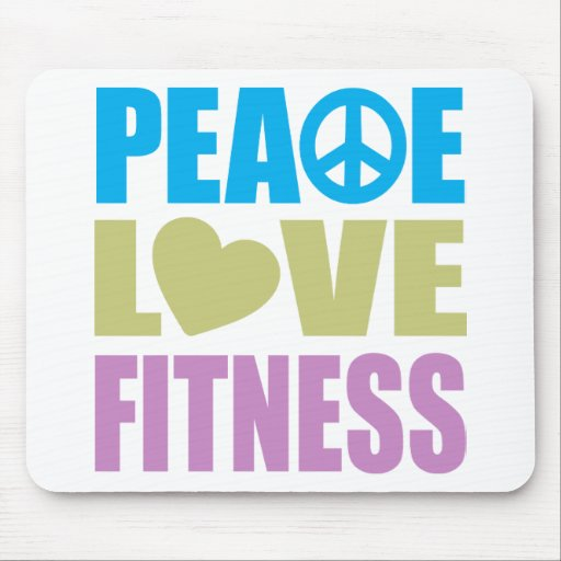 Peace Love Fitness Mouse Pad