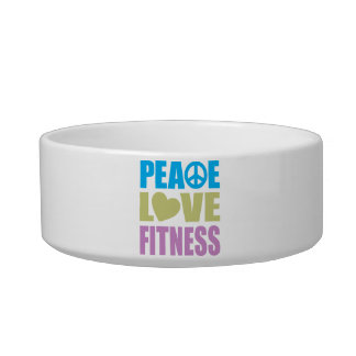 Peace Love Fitness Cat Bowls