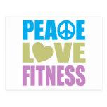 Peace Love Fitness Postcard
