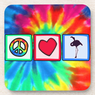 Peace, Love, Flamingos Coaster