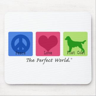 Peace Love Flat Coat Retriever Mouse Pad