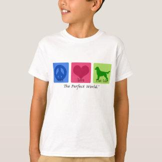 Peace Love Flat Coat Retriever T-Shirt
