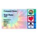 Peace, Love, Fleur de lis Double-Sided Standard Business Cards (Pack Of 100)
