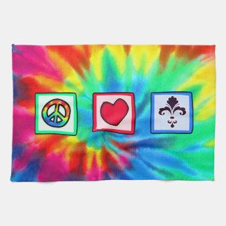 Peace Love Fleur de lis Towel