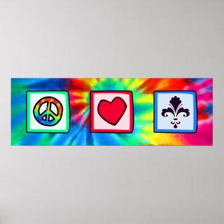 Peace Love Fleur de lis Posters