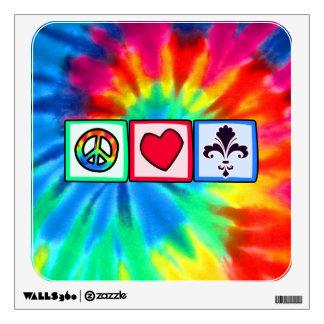 Peace Love Fleur de lis Wall Graphics