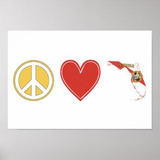 Peace Love Florida Poster