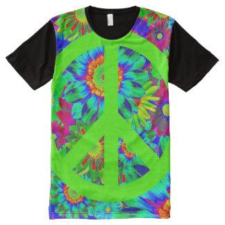 Peace & Love - Flower Power All-Over Print Shirt