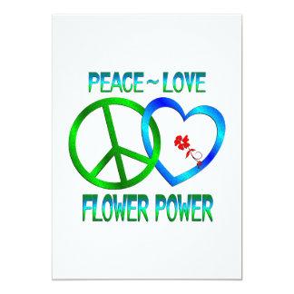 Peace Love FLOWER POWER Card