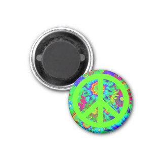 Peace & Love - Flower Power Magnet