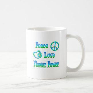 PEACE LOVE FLOWER POWER MUGS