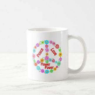 Peace Love Flower Power Coffee Mugs
