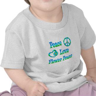 PEACE LOVE FLOWER POWER TEE SHIRTS