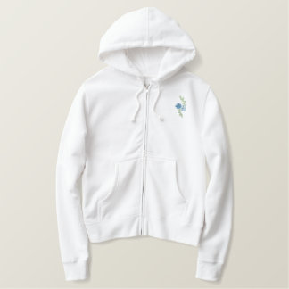 Peace, Love & Flowers Embroidered Hoodie