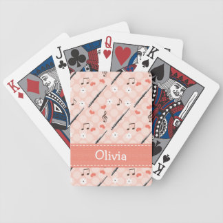 Peace Love Flute Bicycle Playing Cards