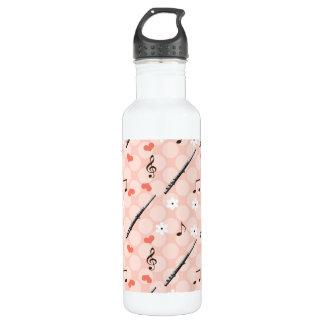 Peace Love Flute BPA Free Water Bottle