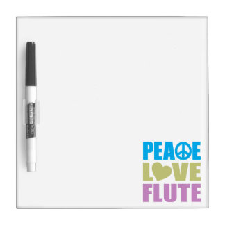 Peace Love Flute Dry-Erase Whiteboards