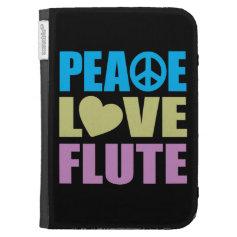 Peace Love Flute Kindle Folio Cases