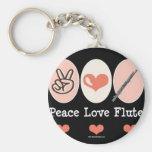 Peace.Love.Flute Llavero