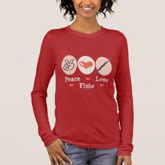 Peace Love Flute Long Sleeve Tee Shirt