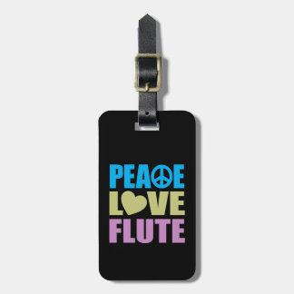 Peace Love Flute Bag Tag