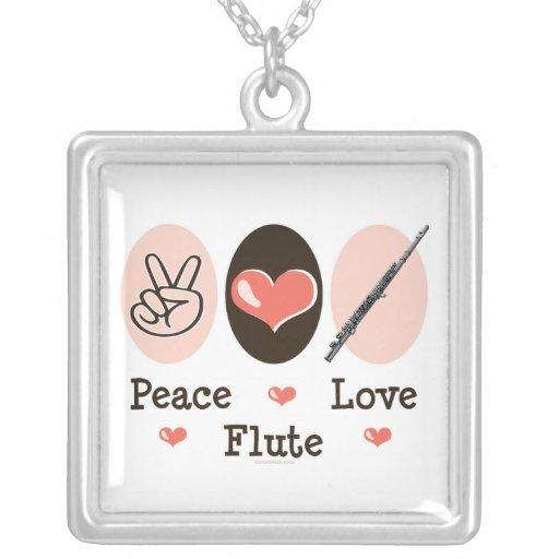 Peace Love Flute Necklace
