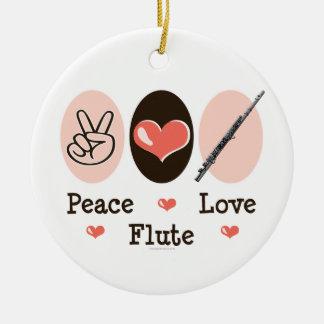 Peace Love Flute Ornament