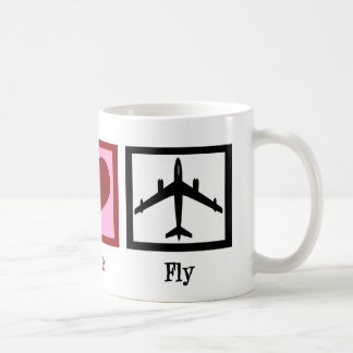 Peace Love Fly Coffee Mug