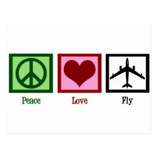 Peace Love Fly Postcard