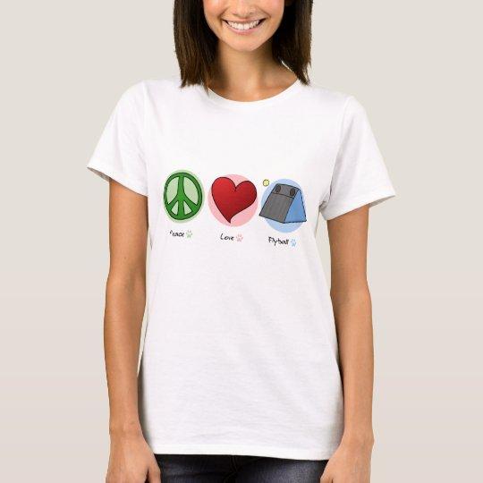 Peace Love Flyball Women's TShirt