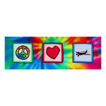 Peace, Love, Flying Posters