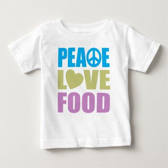 Peace Love Food Baby T-Shirt