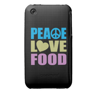Peace Love Food iPhone 3 Case-Mate Cases