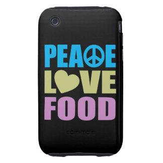 Peace Love Food Tough iPhone 3 Case