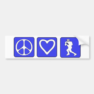 Peace Love Football Bumper Sticker