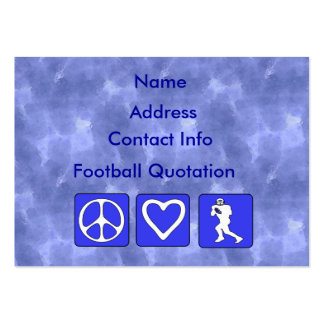 Peace Love Football Large Business Cards (Pack Of 100)