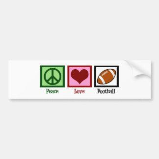 Peace Love Football Car Bumper Sticker