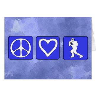 Peace Love Football Card