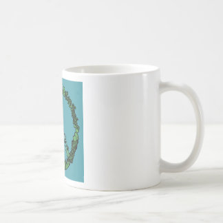 Peace Love Football Coffee Mug