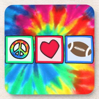 Peace, Love, Football Coasters