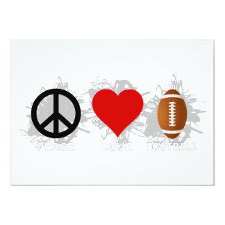 Peace Love Football Emblem Card