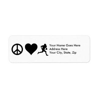 Peace Love Football Label