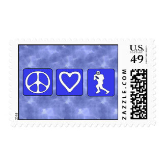 Peace Love Football Postage Stamps