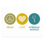 Peace Love Forensic Science Postcard