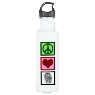 Peace Love Forensics Stainless Steel Water Bottle