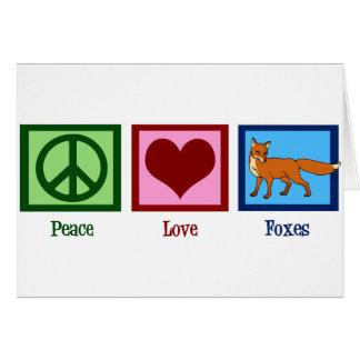 Peace Love Foxes Card