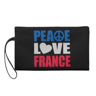 Peace Love France Wristlets