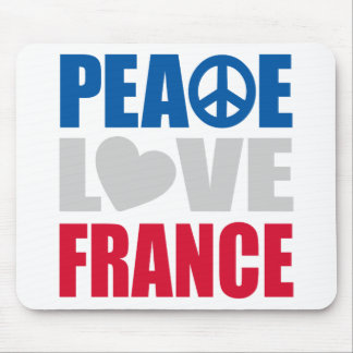 Peace Love France Mouse Pad